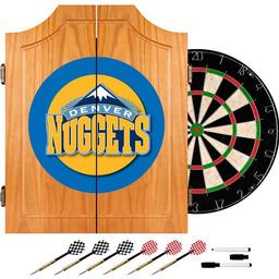 Click here to learn more about the Denver Nuggets NBA Wood Dart Cabinet Set.
