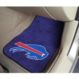 "Click here to learn more about the Buffalo Bills 2-piece Carpeted Car Mats 17""x27""."
