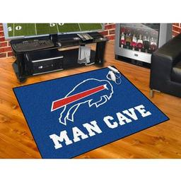 "Click here to learn more about the Buffalo Bills Man Cave All-Star Mat 33.75""x42.5""."