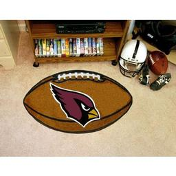 "Click here to learn more about the Arizona Cardinals Football Rug 20.5""x32.5""."