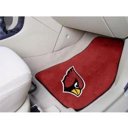 "Click here to learn more about the Arizona Cardinals 2-piece Carpeted Car Mats 17""x27""."