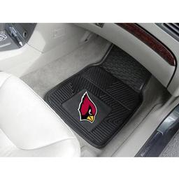 "Click here to learn more about the Arizona Cardinals Heavy Duty 2-Piece Vinyl Car Mats 17""x27""."