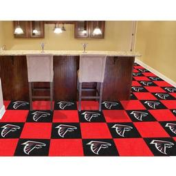 "Click here to learn more about the Atlanta Falcons Carpet Tiles 18""x18"" tiles."