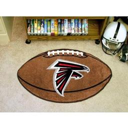 "Click here to learn more about the Atlanta Falcons Football Rug 20.5""x32.5""."