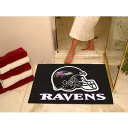 "Click here to learn more about the Baltimore Ravens All-Star Mat 33.75""x42.5""."