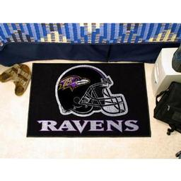 "Click here to learn more about the Baltimore Ravens Starter Rug 20""x30""."