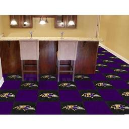 "Click here to learn more about the Baltimore Ravens Carpet Tiles 18""x18"" tiles."