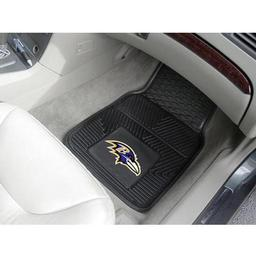 "Click here to learn more about the Baltimore Ravens Heavy Duty 2-Piece Vinyl Car Mats 17""x27""."
