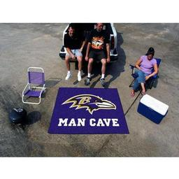 Click here to learn more about the Baltimore Ravens Man Cave Tailgater Rug 5''x6''.