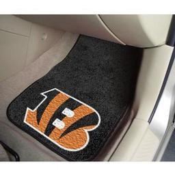 "Click here to learn more about the Cincinnati Bengals 2-piece Carpeted Car Mats 17""x27""."