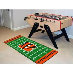 "Click here to learn more about the Cincinnati Bengals Runner 30""x72""."