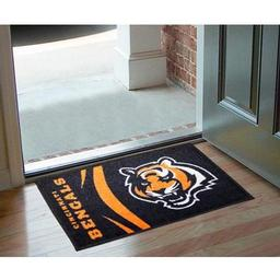 "Click here to learn more about the Cincinnati Bengals Uniform Inspired Starter Rug 20""x30""."