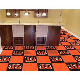 "Click here to learn more about the Cincinnati Bengals Carpet Tiles 18""x18"" tiles."