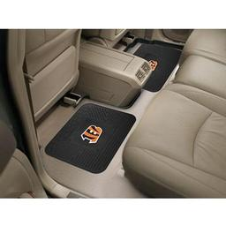 "Click here to learn more about the Cincinnati Bengals Backseat Utility Mats 2 Pack 14""x17""."