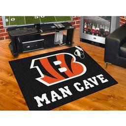 "Click here to learn more about the Cincinnati Bengals Man Cave All-Star Mat 33.75""x42.5""."