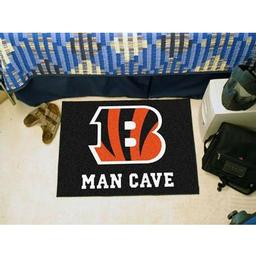 "Click here to learn more about the Cincinnati Bengals Man Cave Starter Rug 19""x30""."