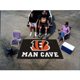 Click here to learn more about the Cincinnati Bengals Man Cave UltiMat Rug 5''x8''.