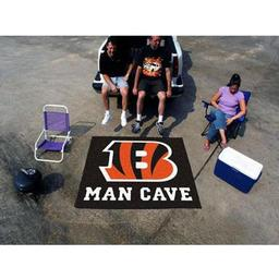 Click here to learn more about the Cincinnati Bengals Man Cave Tailgater Rug 5''x6''.