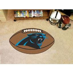 "Click here to learn more about the Carolina Panthers Football Rug 20.5""x32.5""."