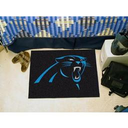 "Click here to learn more about the Carolina Panthers Starter Rug 20""x30""."