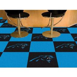 "Click here to learn more about the Carolina Panthers Carpet Tiles 18""x18"" tiles."