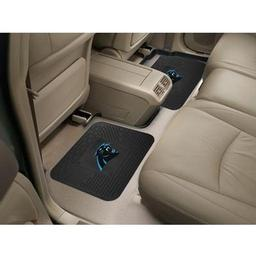 "Click here to learn more about the Carolina Panthers Backseat Utility Mats 2 Pack 14""x17""."