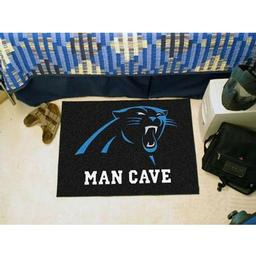 "Click here to learn more about the Carolina Panthers Man Cave Starter Rug 19""x30""."