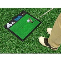 "Click here to learn more about the Carolina Panthers Golf Hitting Mat 20"" x 17""."