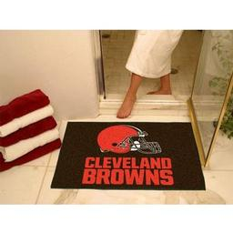 "Click here to learn more about the Cleveland Browns All-Star Mat 33.75""x42.5""."