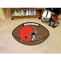 "Click here to learn more about the Cleveland Browns Football Rug 20.5""x32.5""."