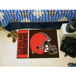 "Click here to learn more about the Cleveland Browns Uniform Inspired Starter Rug 20""x30""."