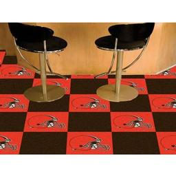 "Click here to learn more about the Cleveland Browns Carpet Tiles 18""x18"" tiles."