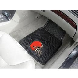"Click here to learn more about the Cleveland Browns Heavy Duty 2-Piece Vinyl Car Mats 17""x27""."