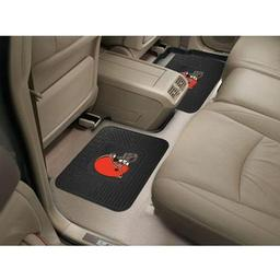 "Click here to learn more about the Cleveland Browns Backseat Utility Mats 2 Pack 14""x17""."