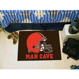 "Click here to learn more about the Cleveland Browns Man Cave Starter Rug 19""x30""."