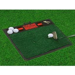 "Click here to learn more about the Cleveland Browns Golf Hitting Mat 20"" x 17""."