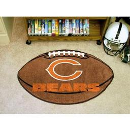 "Click here to learn more about the Chicago Bears Football Rug 20.5""x32.5""."