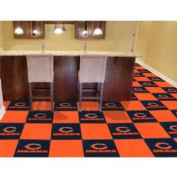 "Click here to learn more about the Chicago Bears Carpet Tiles 18""x18"" tiles."