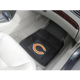 "Click here to learn more about the Chicago Bears Heavy Duty 2-Piece Vinyl Car Mats 17""x27""."