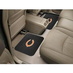 "Click here to learn more about the Chicago Bears Backseat Utility Mats 2 Pack 14""x17""."