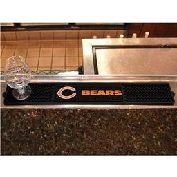 "Click here to learn more about the Chicago Bears Drink Mat 3.25""x24""."