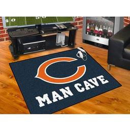 "Click here to learn more about the Chicago Bears Man Cave All-Star Mat 33.75""x42.5""."