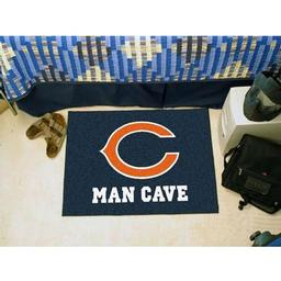 "Click here to learn more about the Chicago Bears Man Cave Starter Rug 19""x30""."