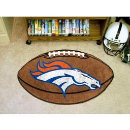 "Click here to learn more about the Denver Broncos Football Rug 20.5""x32.5""."