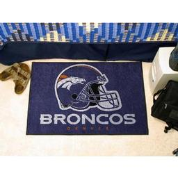 "Click here to learn more about the Denver Broncos Starter Rug 20""x30""."