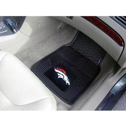 "Click here to learn more about the Denver Broncos Heavy Duty 2-Piece Vinyl Car Mats 17""x27""."