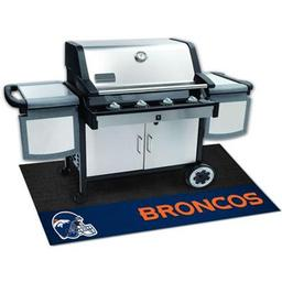 "Click here to learn more about the Denver Broncos Grill Mat 26""x42""."