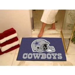 "Click here to learn more about the Dallas Cowboys All-Star Mat 33.75""x42.5""."