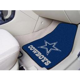 "Click here to learn more about the Dallas Cowboys 2-piece Carpeted Car Mats 17""x27""."