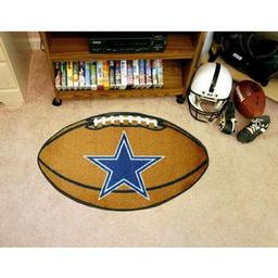 "Click here to learn more about the Dallas Cowboys Football Rug 20.5""x32.5""."
